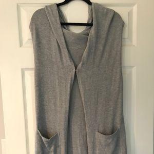 CABI Hooded Long Sweater Vest WORN TWICE